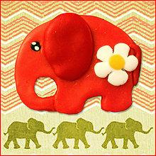 Magnetky - Slon roztomilý - 6396429_