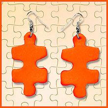 Náušnice - Puzzle náušnice NA ZÁKAZKU - 6396763_