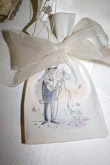 Darčeky pre svadobčanov - Vrecusko pre svadobnych hosti - \