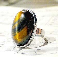 Prstene - Falcon's Eye in Silver - 6399868_