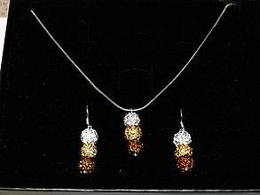 Sady šperkov - Capuccino sada v krabičke - 6398555_
