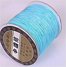 Galantéria - Shamballa šnúrka 0,8 mm modrá - 6399349_