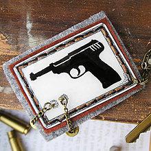 Iné - karabínka s plastovou pištoľou a nábojnicami - 6399538_