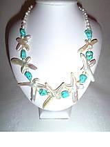 perly na obláčku náhrdelník