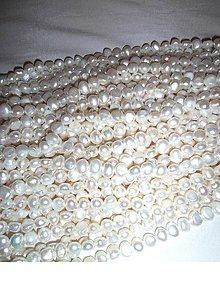 Korálky - perly prírodné riečne 9-10mm - 6399746_