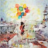 Obrazy - Balóny namiesto krídel. 40x40, reprodukcia - 6398783_