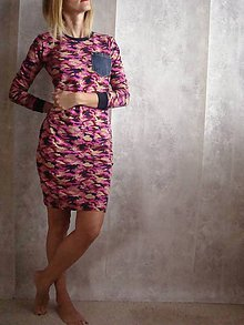 Šaty - - KAMufLážové  ŠATY  v  rUžovom _ - 6397397_