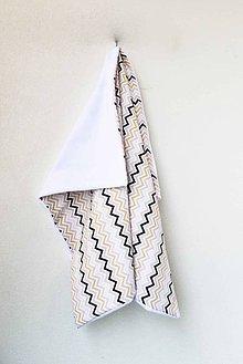 Textil - _BUVI... CiK CaK v béžovej kombi... deka pre najmenších ♥ - 6404087_