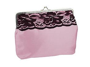 Taštičky - Dámská spoločenská růžová kabelka 1482 - 6404094_