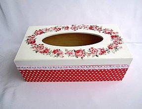 Krabičky - Krabica na vreckovky-Coco - 6403106_