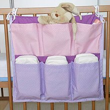 Textil - Vreckár *Lila Rose*45x40 - 6400846_