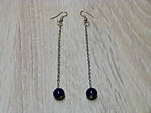 Náušnice - Dlhé modré náušnice - 6403162_