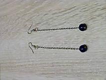 Náušnice - Dlhé modré náušnice - 6403163_