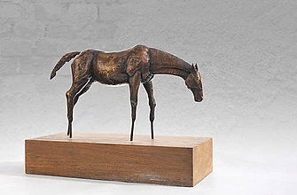 Socha - Kôň - bronzová socha - originál - 6400779_