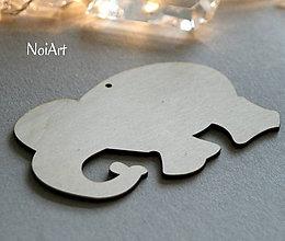 Polotovary - Drevená predloha sloník - 6402219_