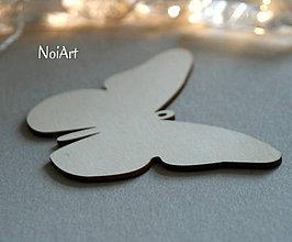 Polotovary - Drevená predloha Motýľ - 6402255_