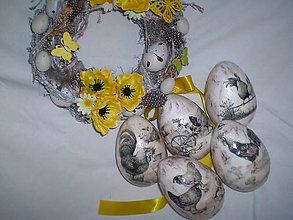 Dekorácie - Veľkonočné vajíčka Na vidieku - 6401319_