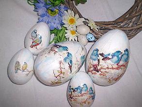 Dekorácie - Veľkonočné vajíčka Vtáčiky - 6401369_