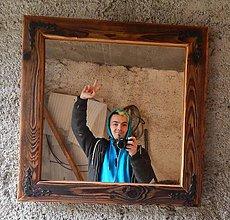 Zrkadlá - Zrkadlo zo starého dreva - 6402760_
