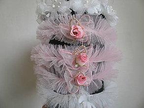 Ozdoby do vlasov - Tylové čelenky na svadbu - 6404493_