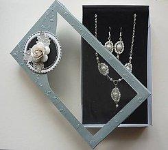 Sady šperkov - Biela perličková sada - 6403793_