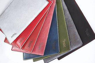 Na notebook - Kožené púzdro na Macbook Air 13 s filcom-biele - 6404855_
