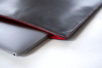Na notebook - Kožené púzdro na Macbook Air 13 s filcom-čierne - 6404885_