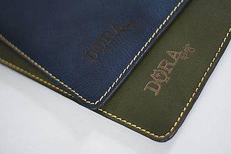 Na notebook - Kožené púzdro na Macbook Air 13 s filcom-zelené - 6404934_
