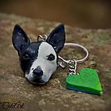 Kľúčenka s hlavičkou psíka podľa fotografie