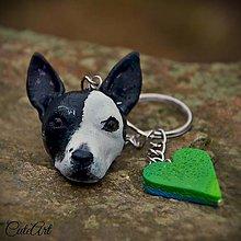 Kľúčenky - Kľúčenka s hlavičkou psíka podľa fotografie - 6403454_