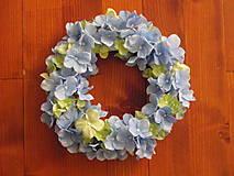 - Modro zelený veniec z hortenzii - 6402156_