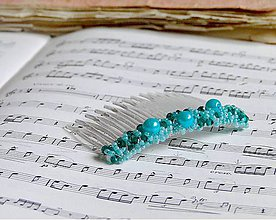 Ozdoby do vlasov - Turquoise Pearls - 6406798_