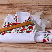 Oblečenie - Košeľa s výšivkou ruží - 6408142_