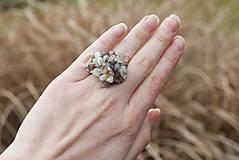 Prstene - botswanský achát prsteň - 6408810_