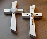 Dekorácie - Kríž biely  (výška 18 cm) - 6407858_
