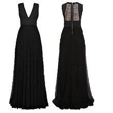 Šaty - Spoločenské šaty s chrbátom z krajky - 6407264_
