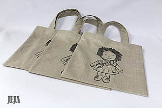 Detské tašky - Dievčenská taška 21 x 22 cm - 6405566_