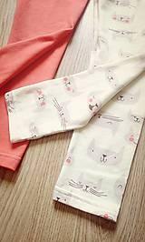 Detské oblečenie - Legínky mačičkovské - 6407674_