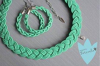 Sady šperkov - Náhrdelník a náramek © Copánkování mentolem ... - 6406521_
