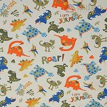 Detské čiapky - Bavlnený úplet - dinosaury - 6409275_