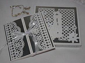 Papiernictvo - Svadobný pár v striebornom (v krabičke) - 6411725_