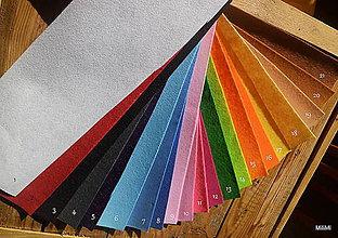 Textil - filc, plsť metráž aj s popisom farieb - 6412881_
