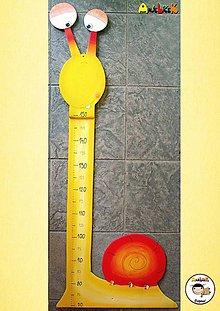 Detské doplnky - Meter na stenu - slimák - 6413303_