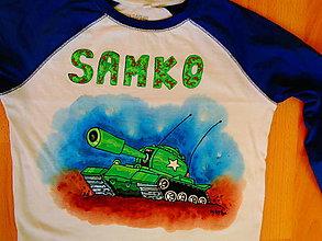 Detské oblečenie - maľované tričko tank - 6412450_