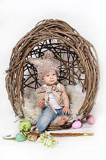 Detské doplnky - Prútené vajíčko - 6413398_