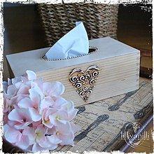 Krabičky - Na vreckovky - natur - 6411609_