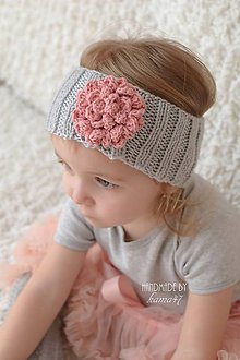 Detské čiapky - Pletená čelenka proti vetru ...