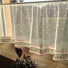 Úžitkový textil - Záclonka s ružičkami - 6416691_