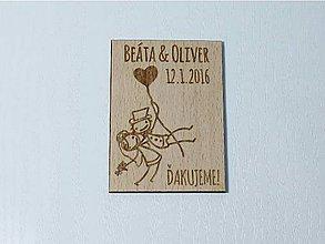 Darčeky pre svadobčanov - Svadobná magnetka #1 - 6418168_