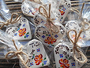 Darčeky pre svadobčanov - svadobné magnetky/folklór 1 - 6417468_